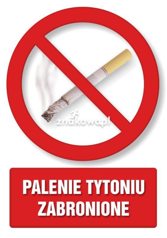 Palenie tytoniu zabronione 1 - Obiekty handlowe – znaki bezpieczeństwa i tablice informacyjne