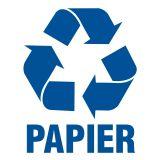 Papier 1 - znak informacyjny, segregacja śmieci - PA051 - Segregacja śmieci: kolory, zasady sortowania i oznaczenia na koszach