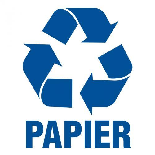 Papier 1 - znak informacyjny, segregacja śmieci - PA051 - Zasady segregacji odpadów w Gdańsku po 1 kwietnia 2018