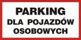 Parking dla pojazdów osobowych - znak PCV, naklejka - SA025 - Odległość miejsc postojowych od okien budynków