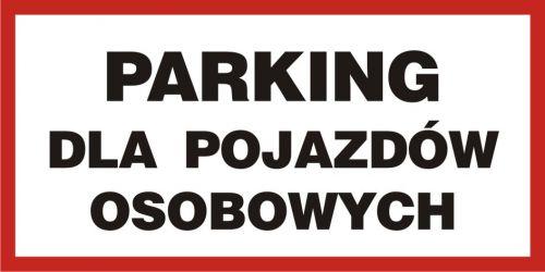 Parking dla pojazdów osobowych - znak PCV, naklejka - SA025 - Parking – z jakimi oznaczeniami możemy się spotkać?