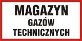 PB101 - Magazyn gazów technicznych - znak informacyjny - Magazynowanie materiałów i innych przedmiotów
