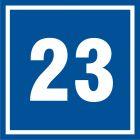 PB523 - Numer 23 - znak informacyjny