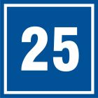 PB525 - Numer 25 - znak informacyjny