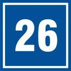 PB526 - Numer 26 - znak informacyjny