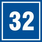 PB532 - Numer 32 - znak informacyjny