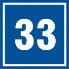 PB533 - Numer 33 - znak informacyjny