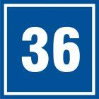 PB536 - Numer 36 - znak informacyjny