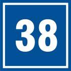 PB538 - Numer 38 - znak informacyjny