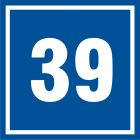 PB539 - Numer 39 - znak informacyjny