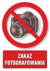 PC101 - Zakaz fotografowania - znak informacyjny