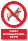 PC108 - Zakaz wprowadzania psów - znak informacyjny