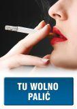 PC503 - Tu wolno palić 1 - znak informacyjny - Palenie tytoniu – gdzie obowiązuje zakaz, a gdzie wolno palić?