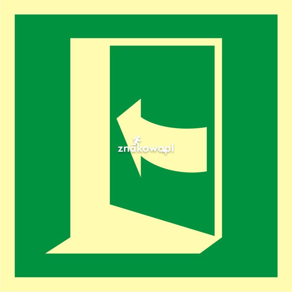 Pchać aby otworzyć drzwi (lewe) - Obiekty handlowe – znaki bezpieczeństwa i tablice informacyjne