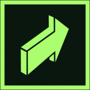 Pchać aby otworzyć - znak ewakuacyjny - AA012