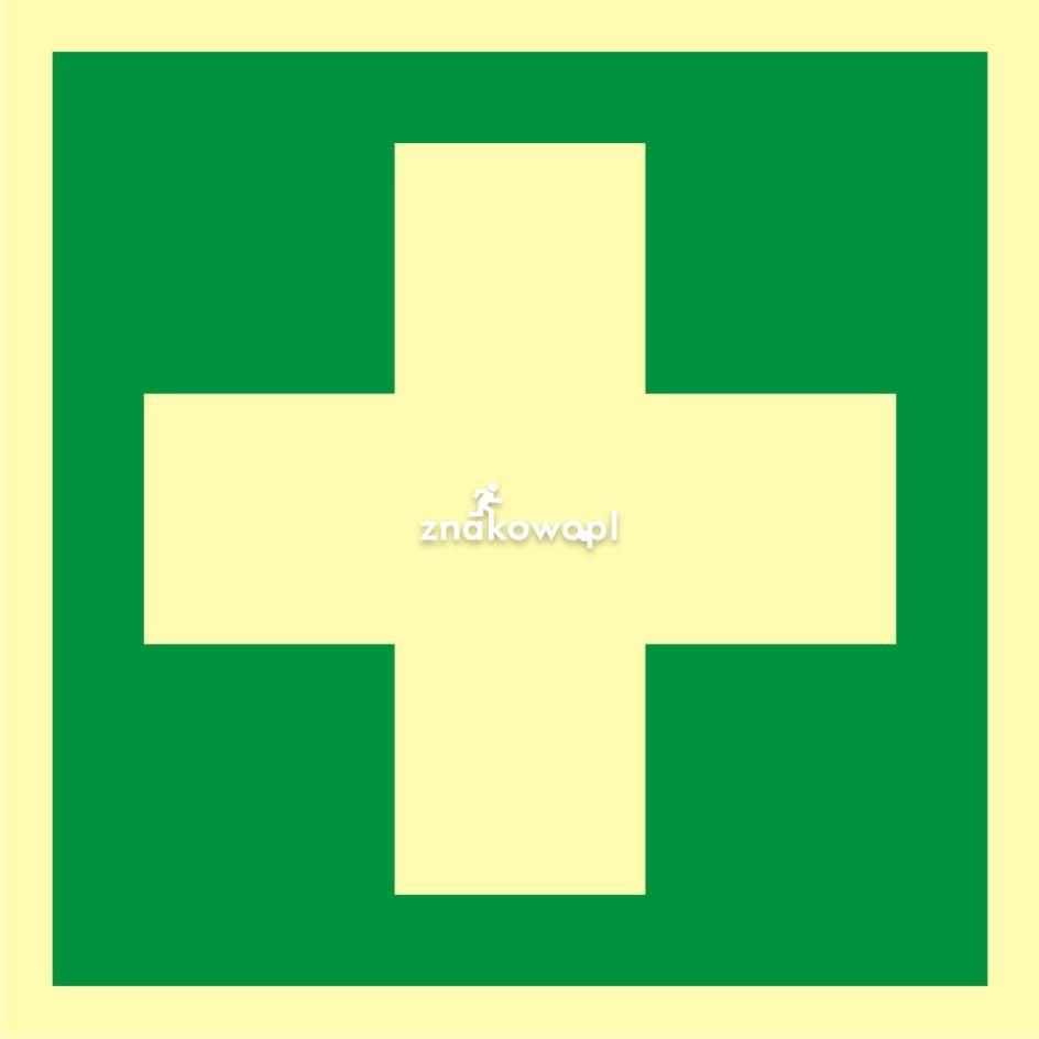 Pierwsza pomoc medyczna - Obiekty handlowe – znaki bezpieczeństwa i tablice informacyjne