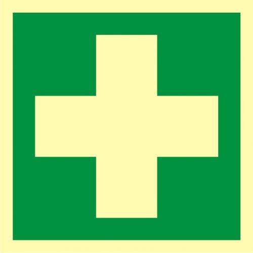Pierwsza pomoc medyczna - znak ewakuacyjny - AAE003 - Udzielenie pierwszej pomocy – co zrobić, jeśli w pracy zdarzył się wypadek?