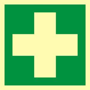 Pierwsza pomoc medyczna - znak ewakuacyjny - AAE003 - Punkty pierwszej pomocy