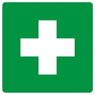Pierwsza pomoc - znak bhp informujący - GG001