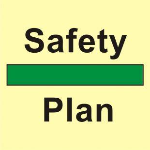Plan urządzeń ratowniczych oraz środków ewakuacyjnych - znak morski - FB001