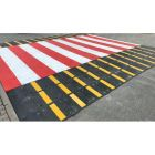 Płytowy, wyspowy próg zwalniający - konfigurowalny wymiar - drogowy, przejście dla pieszych