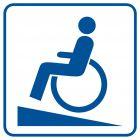 Podjazd dla inwalidów - znak informacyjny - RA072