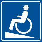 Podjazd dla niepełnosprawnych - znak informacyjny - RA115