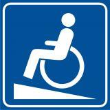 Podjazd dla niepełnosprawnych - znak informacyjny - RA115 - Budynki mieszkalne – oznakowanie