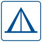 Pole namiotowe (camping) - znak informacyjny - RA096