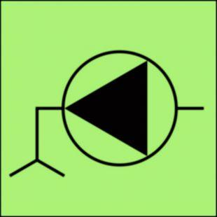 Pompa zęzowa - znak morski - FA019