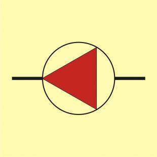 Pompy pożarnicze - znak morski - FI048