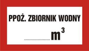Ppoż. zbiornik wodny ... m3 - znak przeciwpożarowy ppoż - BC101