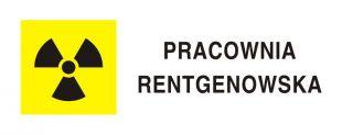 Pracownia rentgenowska RTG - znak bezpieczeństwa, ostrzegający, promieniowanie - KA014
