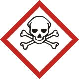 Produkt bardzo toksyczny - znak piktogram GHS 06 CLP - Piktogramy chemiczne – jak je stosować?