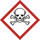 Produkt bardzo toksyczny - znak piktogram GHS 06 CLP - LF006