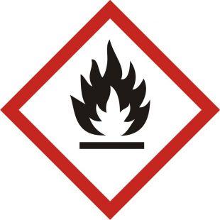 Produkt łatwopalny - znak piktogram GHS 02 CLP