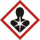 Produkt poważnie zagrażający zdrowiu - znak piktogram GHS 08 CLP