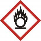 Produkt utleniający - znak piktogram GHS 03 CLP - LF003
