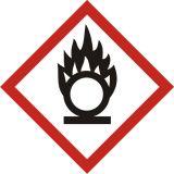 Produkt utleniający - znak piktogram GHS 03 CLP - LF003 - Substancje stałe utleniające