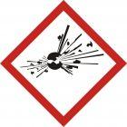 Produkt wybuchowy - znak piktogram GHS 01 CLP - LF001