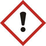 Produkt zagrażający zdrowiu - znak piktogram GHS 07 CLP - LF007 - Minimalne wymiary piktogramów CLP i etykiet