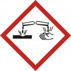 Produkt żrący - znak piktogram GHS 05 CLP - LF005