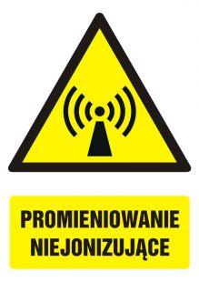 Promieniowanie niejonizujące - znak bhp ostrzegający, informujący - GF027