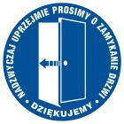 Prosimy o zamykanie drzwi - znak informacyjny - PA026