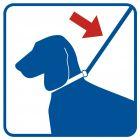 Prowadź psa na smyczy - znak informacyjny - RA120