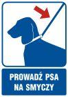 Prowadź psa na smyczy - znak informacyjny - RB031