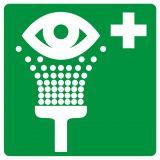 Prysznic do przemywania oczu - znak bhp informujący - GG003 - Znaki BHP w miejscu pracy (norma PN-93/N-01256/03)