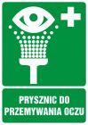 Prysznic do przemywania oczu - znak bhp informujący - GI003