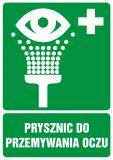 Prysznic do przemywania oczu - znak bhp informujący - GI003 - Znaki BHP w miejscu pracy (norma PN-93/N-01256/03)