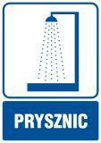 Prysznic - znak informacyjny - RB002 - Warunki higienicznosanitarne w miejscu pracy